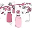 Mason Jar flower scene vector image