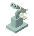 microscope icon isometric style vector image vector image