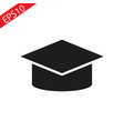mortar board or graduation graduation icon cap on vector image