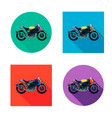 motorcycles set in flat style vector image