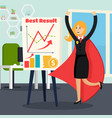 office superhero orthogonal composition vector image