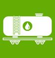 oil railway tank icon green vector image vector image
