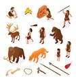 primitive people caveman set vector image vector image