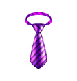 Purple striped tie isolated on white