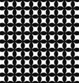 Seamless monochrome shape pattern vector image vector image