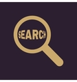 Search icon Magnifier symbol Flat vector image