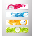 Set of four horizontal banners with arrows and vector image vector image