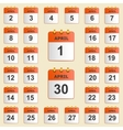 Set of icons for the calendar in April vector image vector image