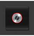 silver buttons with neon on black vector image vector image