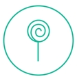 Spiral lollipop line icon vector image vector image