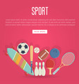 sport equipment concept in flat style vector image