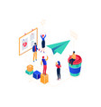 startup company - modern colorful isometric vector image vector image
