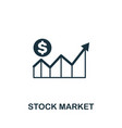 stock market icon creative element design from vector image