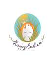 sweet easter egg princess in the grass and oval vector image vector image