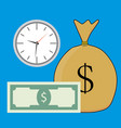 time and money salary vector image vector image