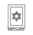 torah line icon vector image