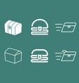 treasure chest logo set vector image