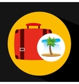 tropical vacation beach suitcase luggage vector image vector image