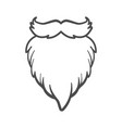 white furry santa claus beard isolated vector image vector image