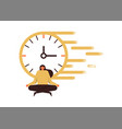 woman doing yoga for concentration fast time speed vector image