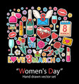 womens day setfashion patch badges collection vector image vector image