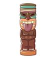 wooden idol icon cartoon style vector image vector image