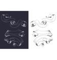 Hand drawn vintage ribbons set vector image