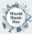abstract light colored international music day vector image