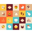 Flat icons set 27 vector image