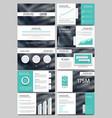 keynote style business presentation vector image