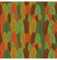 Seamless pattern of colored leaves vector image