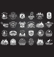 set of tennis and camping club badge vector image