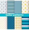 Sailor patterns set vector image