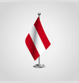 austria flag design vector image