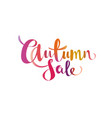 autumn sale gradient lettering promo offer design vector image vector image