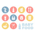 baby food icon set vector image