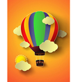 balloon with sunset vector image