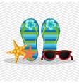 beach icon design vector image