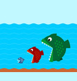big fish eat small fish vector image