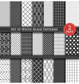 Big Set of black white Pattern2 vector image vector image