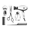 black elements for barber shop vector image vector image