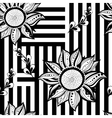Black white floral seamless background Modern vector image vector image