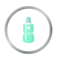 Bottle of mouthwash icon in cartoon style isolated vector image vector image