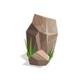 brown stones with green grass landscape design vector image vector image