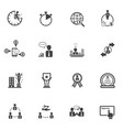business people and finance icons with texture vector image vector image