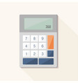 calculator flat icon with long shadow vector image