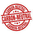 carbon-neutral round red grunge stamp vector image vector image