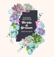 card with succulents vector image