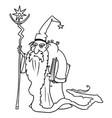 cartoon medieval fantasy wizard sorcerer or royal vector image vector image