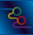 colorful linear design element for new year 2020 vector image